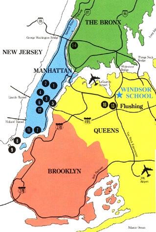美国纽约曼哈顿地图